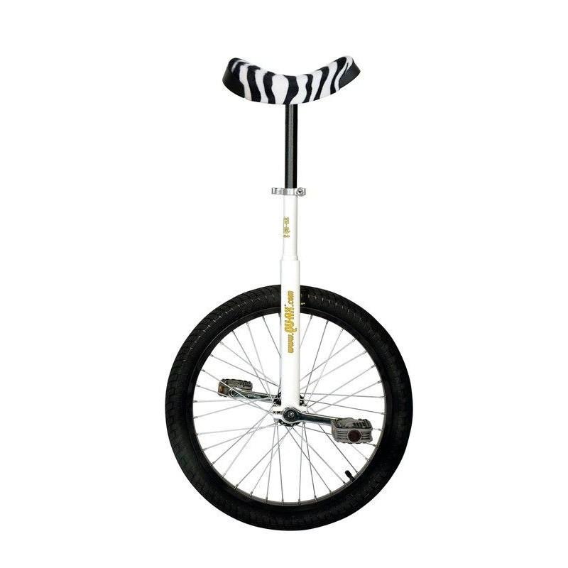 """20"""" QU-AX Ethjulet Cykel Med Zebraskins Sadel I Farven Hvid"""