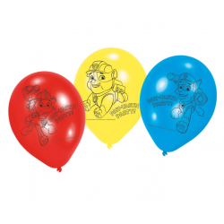 6 Stk. Balloner Paw Patrol Ø 23 cm