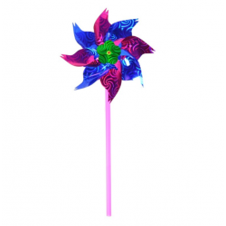 Smuk Glimtende Vindmølle 37 cm : Farve - Lilla, Skal den samles? - Nej Tak, det gør jeg selv: 0,-