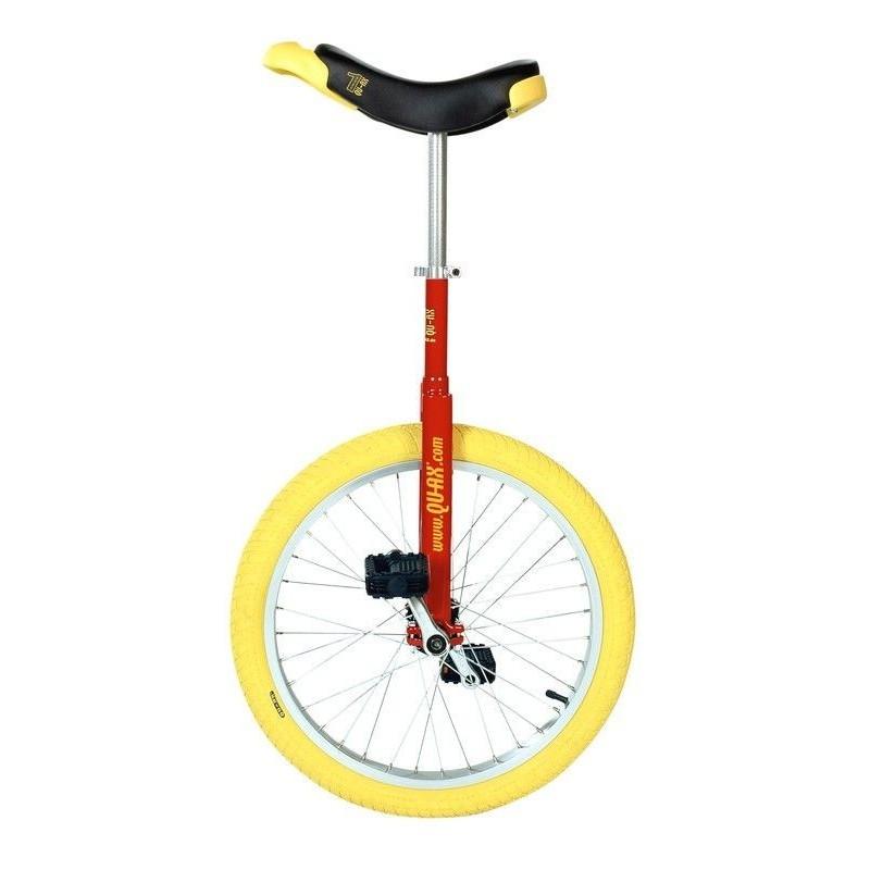 "20"" QU-AX Ethjulet Cykel Luksus Rød/Gul"