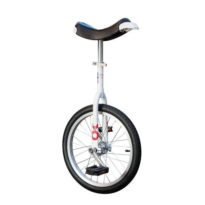 "18"" QU-AX Ethjulet Cykel Hvid"