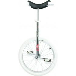 """20"""" QU-AX Ethjulet Cykel Chrom"""
