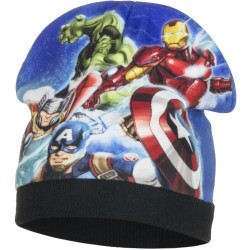 Marvel Avengers Vinter Hue Til Børn : Hue / Kasket størrelse - 52 cm, Farve - Sort