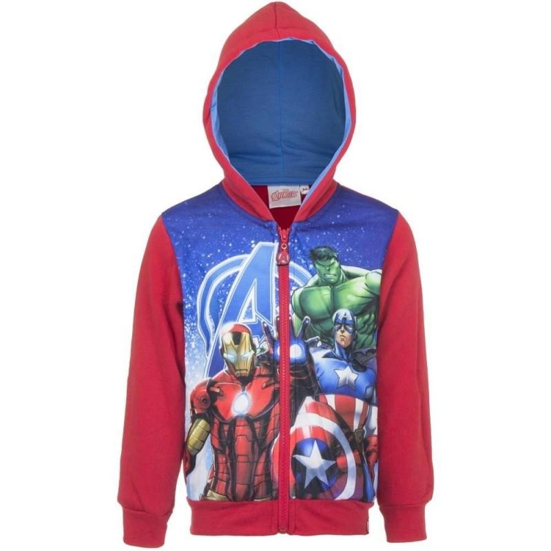 Marvel Avengers Hættetrøje Til Børn 4-10 År : Farve - Rød, Alder - 10 år / 140 cm