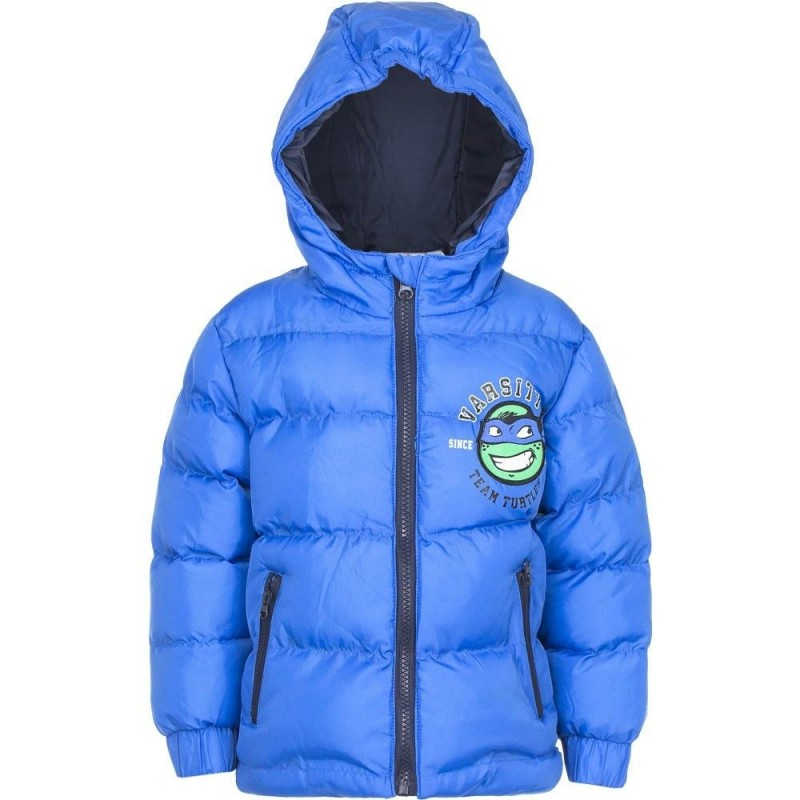 Varm Vinterjakke Med Ninja Turtles 3-8 År : Farve - Blå, Alder - 4 år / 104 cm