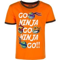 Ninja Turtles T-shirt Til Børn 3-8 År : Farve - Orange, Alder - 6 år / 116 cm