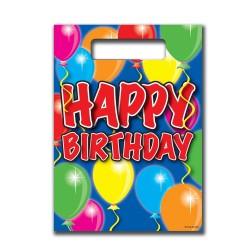 8 Stk. Festlige Happy Birthday Poser