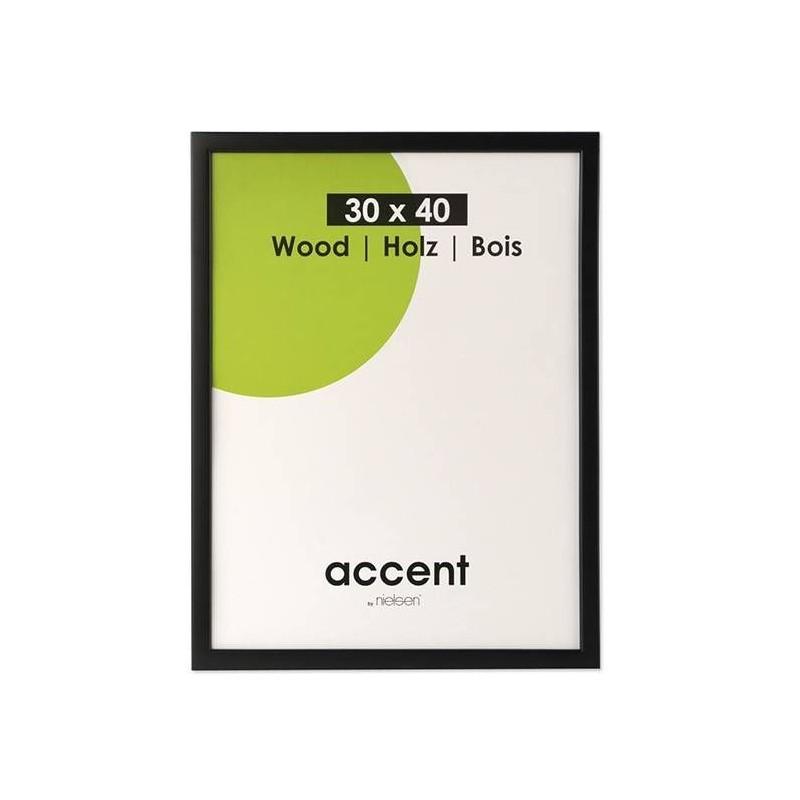 13x18 cm Nielsen Fotoramme Accent i Træ : Farve - Sort