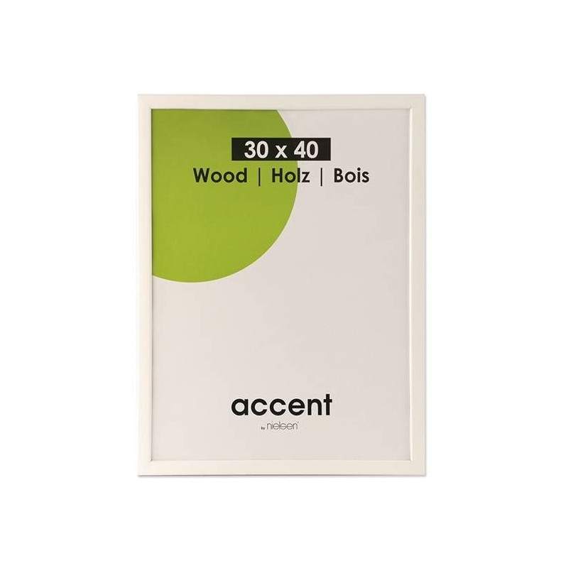 50x70 cm Nielsen Fotoramme Accent i Træ : Farve - Hvid