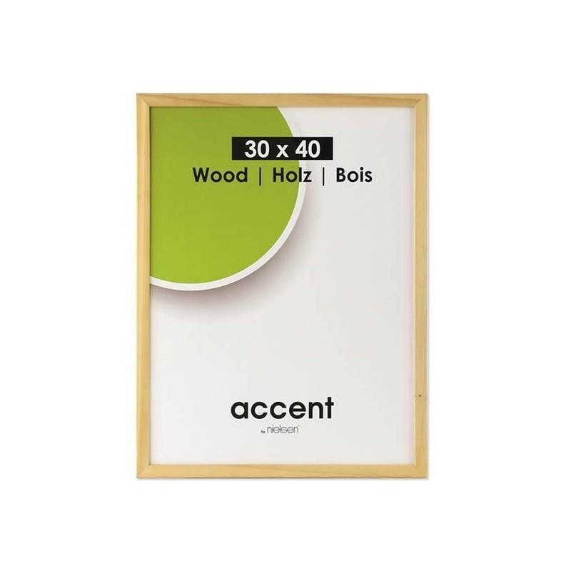 60x80 cm Nielsen Fotoramme Accent i Træ : Farve - Natur