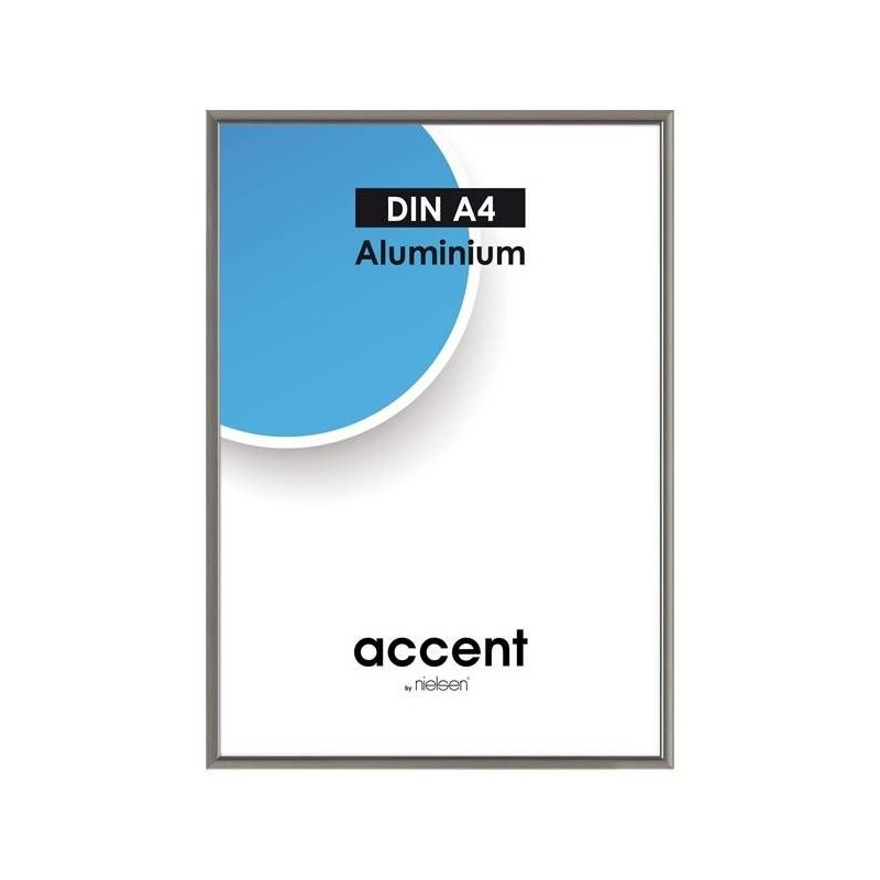 10x15 cm Nielsen Fotoramme Accent i Aluminium Flere Farver : Farve - Stål Grå