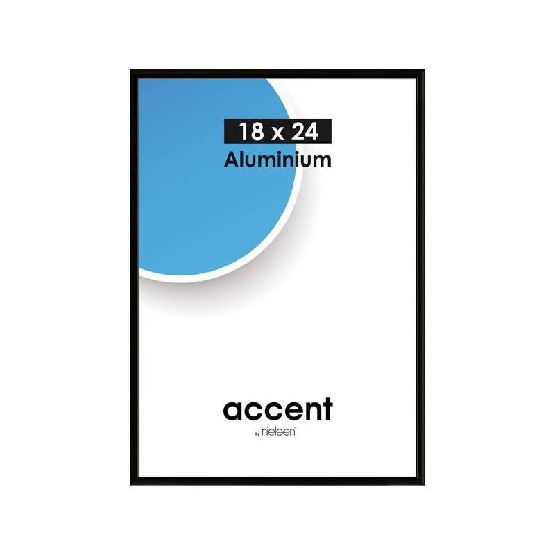 21 x 29,7 cm (DIN A4) Nielsen Fotoramme Accent i Aluminium Flere Farver : Farve - Sort