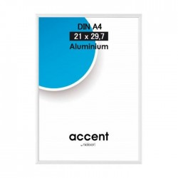 24x30 cm Nielsen Fotoramme Accent i Aluminium Flere Farver : Farve - Højglans Silver