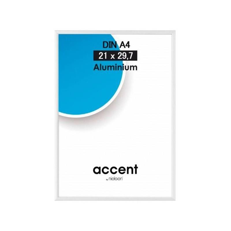 30 x 40 cm Nielsen Fotoramme Accent i Aluminium Flere Farver : Farve - Højglans Silver