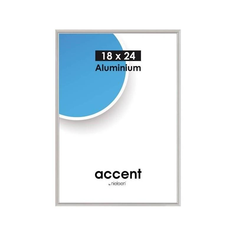 30 x 40 cm Nielsen Fotoramme Accent i Aluminium Flere Farver : Farve - Mat Silver