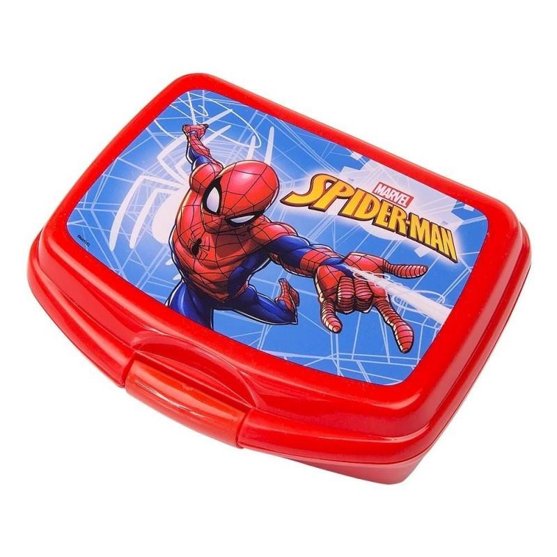 Spiderman Madkasse Til Drenge Rød 16 x 12,5 x 6 cm
