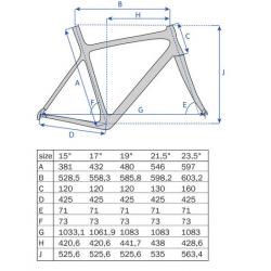 "26"" MTB Ramme Aluminium Mat Sort : Stel Størrelse - 21,5"" (54,6 cm)"