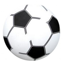 PVC Plast Fodbold Til Børn Ø 20 cm : Farve - Grøn, Pumpes - Nej tak det gør jeg selv: 0,-
