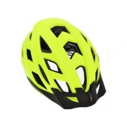 AGU Cit-E III LED Fluo Cykelhjelm Neon Gul Til Mænd og Kvinder : Hjelm Størrelse - L-XL - 58-61 cm