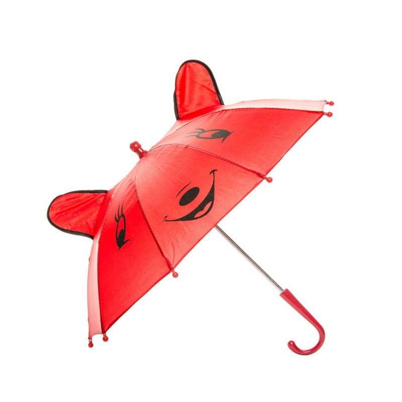 Paraply Med Glad Ansigt Til Børn Ø 50 cm Rød
