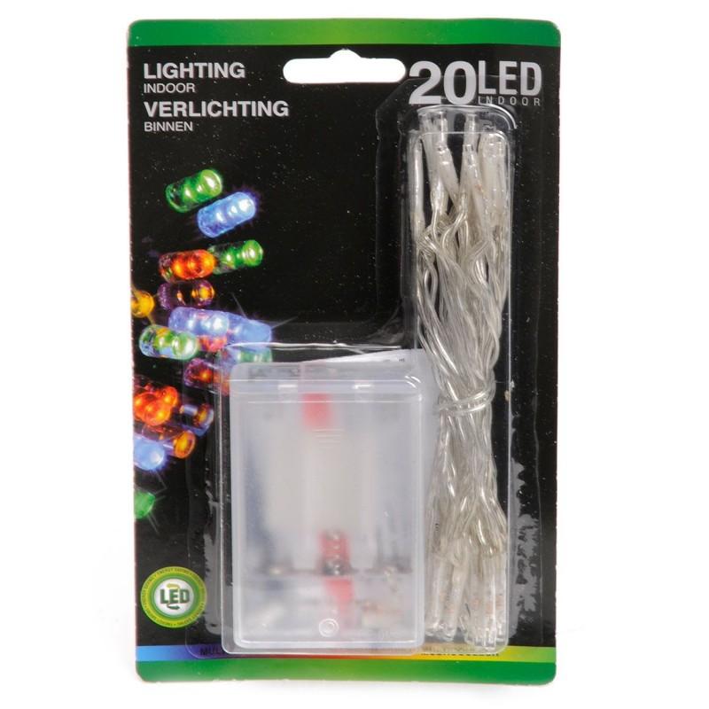 Lyskæde Med 20 LED Dioder - Multi Color