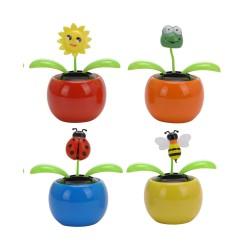 Solcelle Blomst - Bevæger Sig I Sollys