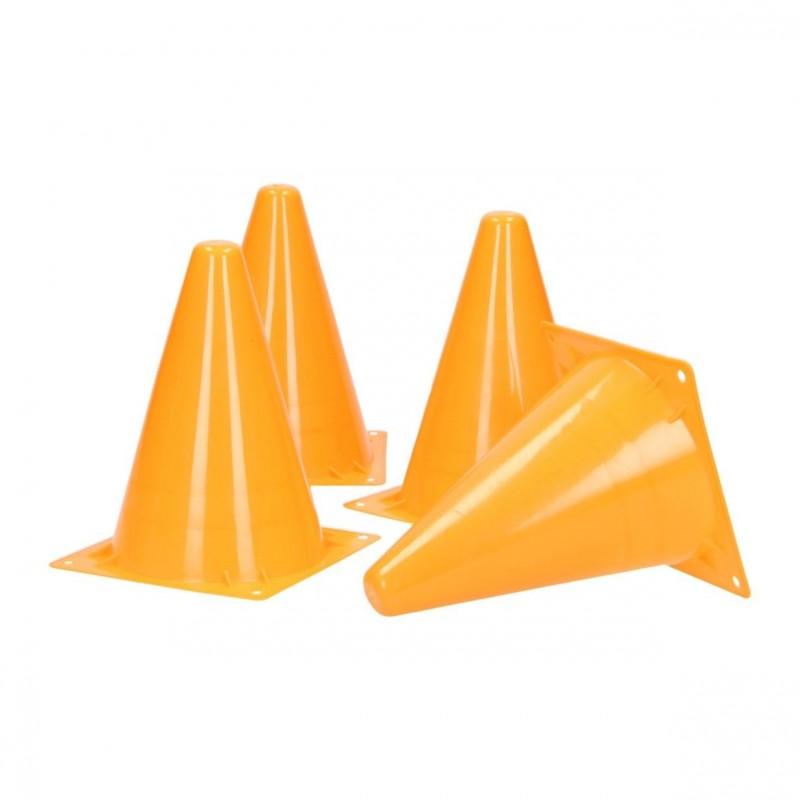 Trafik / Trænings Kegler 4 Stk. Orange 19 cm