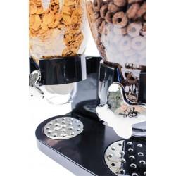 Cornflakes Dispenser Dobbelt 42 x 33 x 20 cm Sort