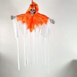 Svævende Spøgelse Med Kappe Orange / Hvid 50x40 cm