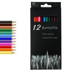 12 Stk. Professionelle Farveblyanter i Forskellige Farver 18 cm
