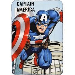Marvel Avengers fleece tæppe med Captain America