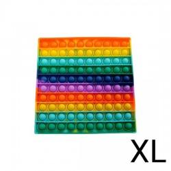 XL Pop IT Fidget Toys Firkant Rainbow 20 cm