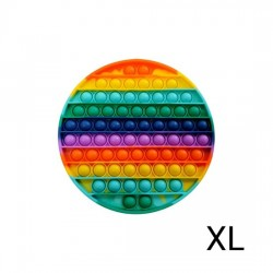 XL Pop IT Fidget Toys Rund Rainbow 20 cm