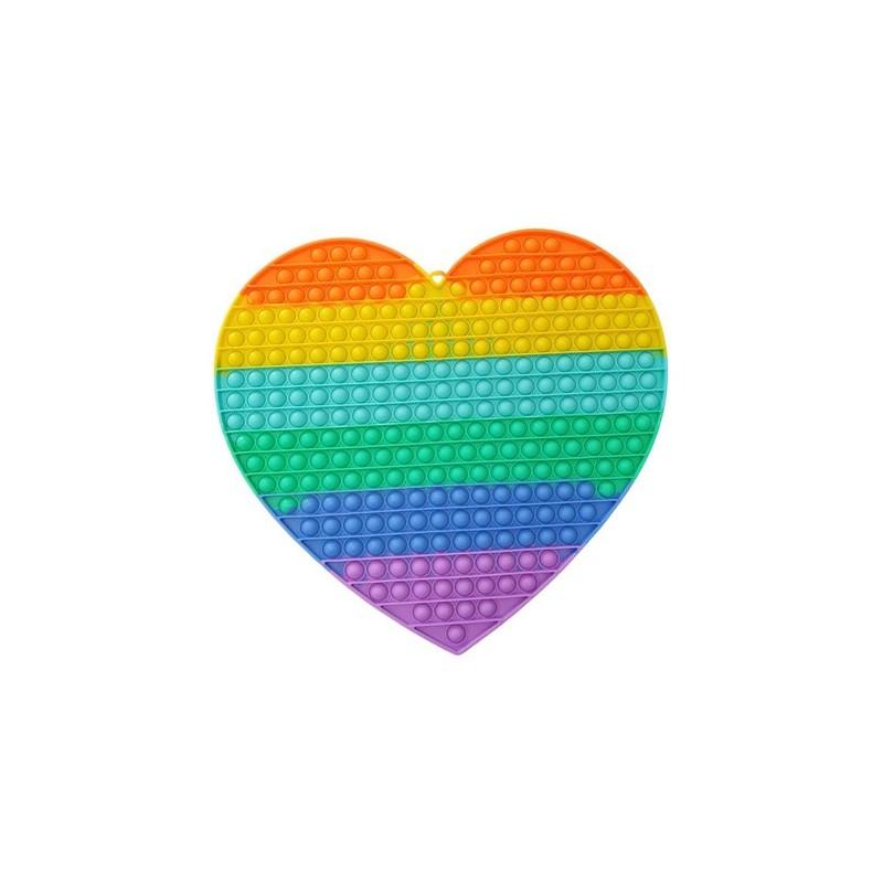 Kæmpe Pop It Plade XXL Rainbow 40CM