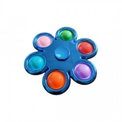 Pop It Fidget Spinner Blå. Køb engros b2b