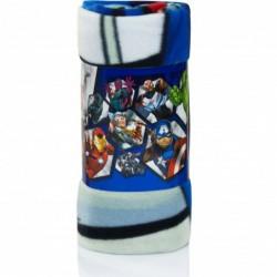 Marvel Avengers Fleece Tæppe 100 x 150 cm : Farve - Lyseblå