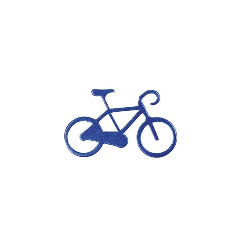 Nøglering I Aluminium Med Cykel Motiv : Farve - Blå