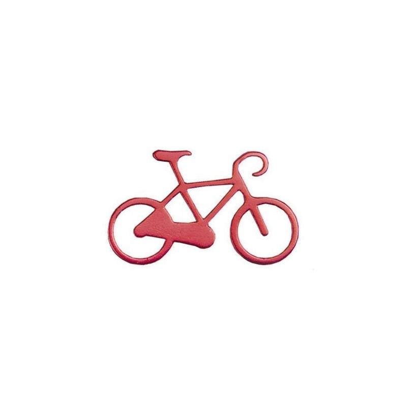 Nøglering I Aluminium Med Cykel Motiv : Farve - Rød