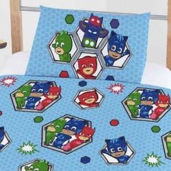 120x150 Cm Pyjamas Heltene Sengetøj Junior - PJ Masks