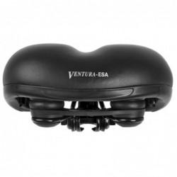 Ventura Cykelsadel Bred Med Elastromer Sort 254 x 210 mm
