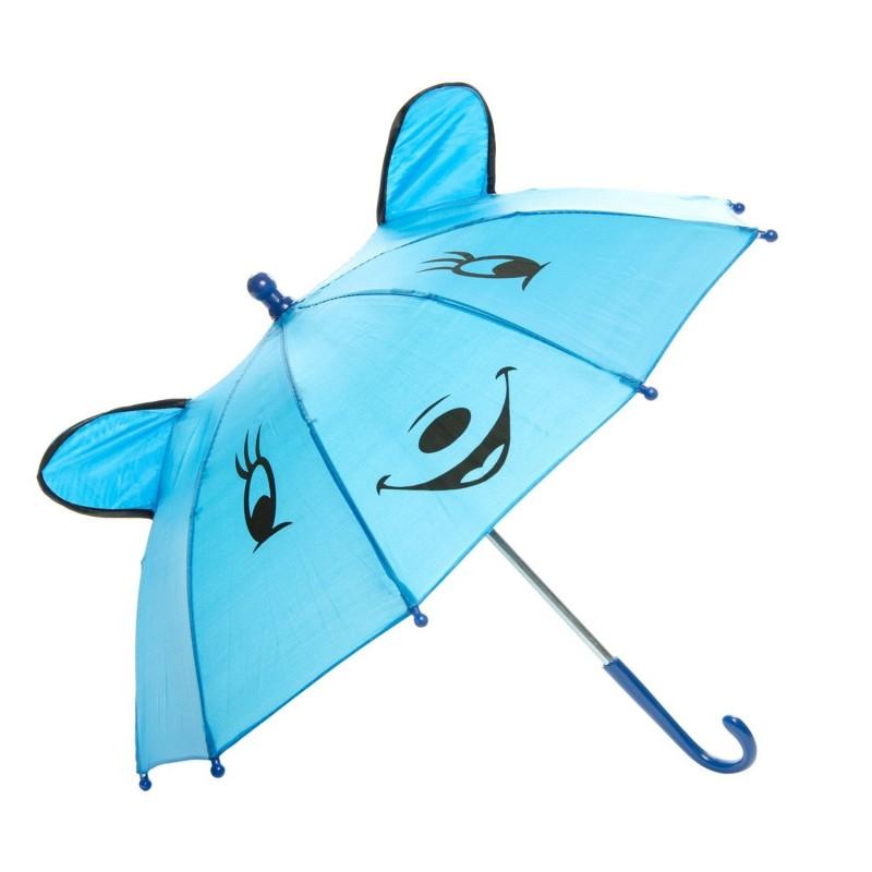Paraply Med Glad Ansigt Til Børn Ø 50 cm Blå