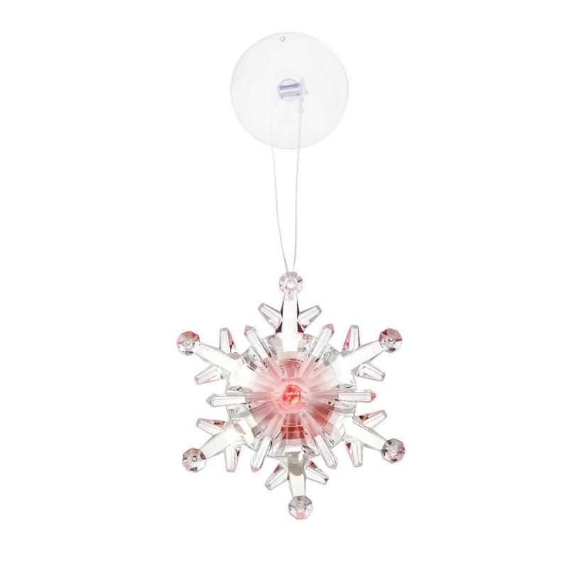 LED Snefnug Med Sugekop 9,5 x 9,5 x 3 cm