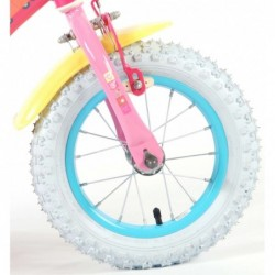 """Gurli Gris Cykel 12"""" Med Støttehjul 3-5 År. Fodbremse : Cyklen samlet - Nej Tak - Jeg samler selv og klargøre cyklen 0 DKK"""