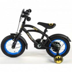 """Batman Cykel 12"""" Med Støttehjul 3-5 År. Fodbremse : Cyklen samlet - Nej Tak - Jeg samler selv og klargøre cyklen 0 DKK"""