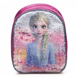 Frozen Rygsæk Med Anna og Elsa Palietter 21 x 24 x 10 cm